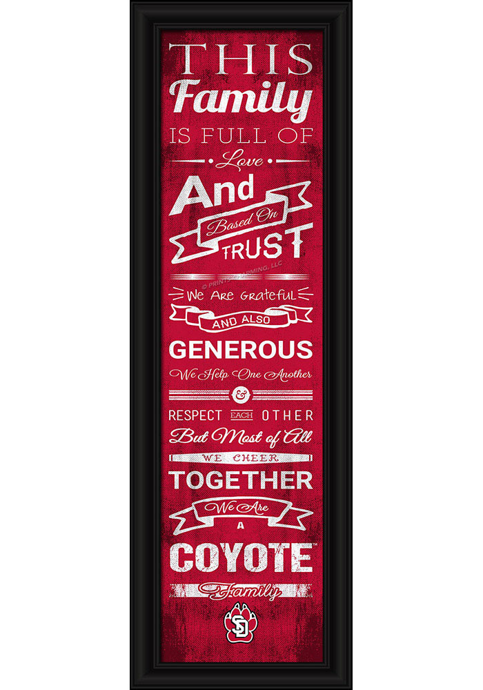 South Dakota Coyotes 8x24 Framed Posters - Image 1