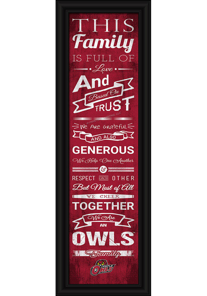 Temple Owls 8x24 Framed Posters - Image 1