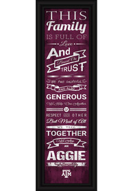 Texas A&M Aggies 8x24 Framed Posters