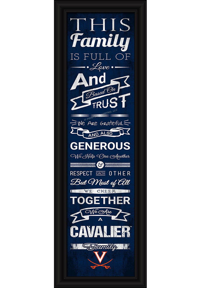 Virginia Cavaliers 8x24 Framed Posters - Image 1