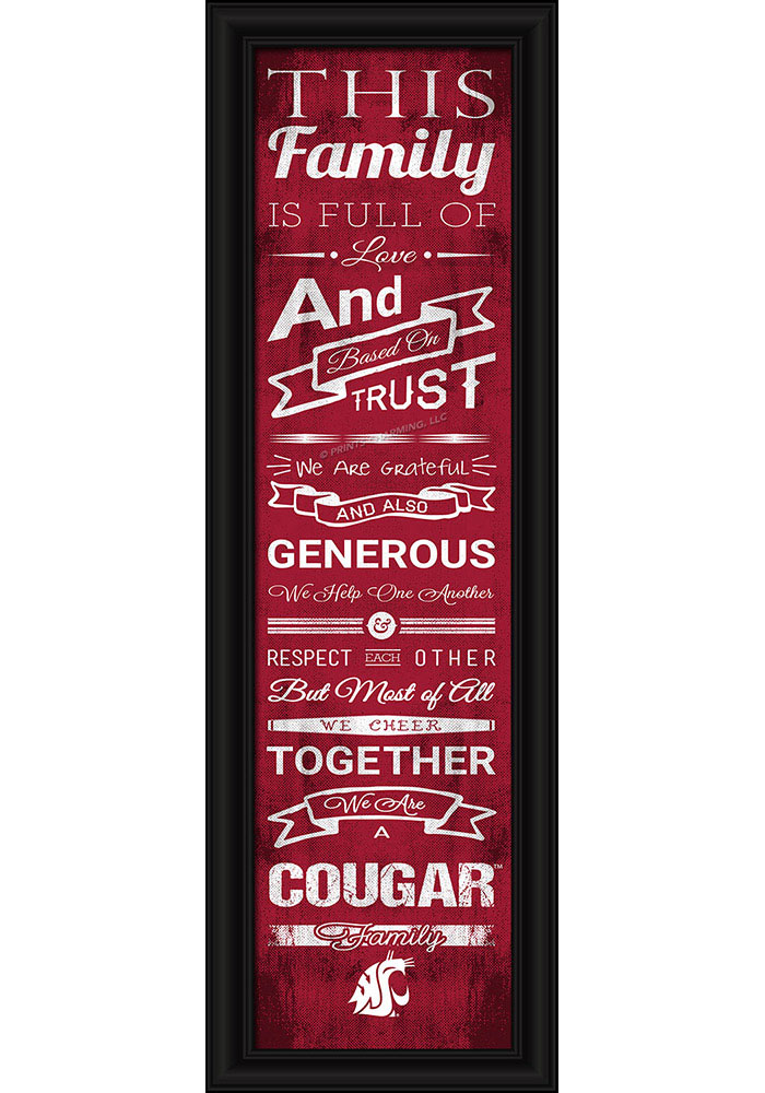 Washington State Cougars 8x24 Framed Posters 6540504
