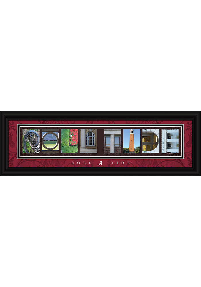 Alabama Crimson Tide 8x24 Framed Posters - Image 1