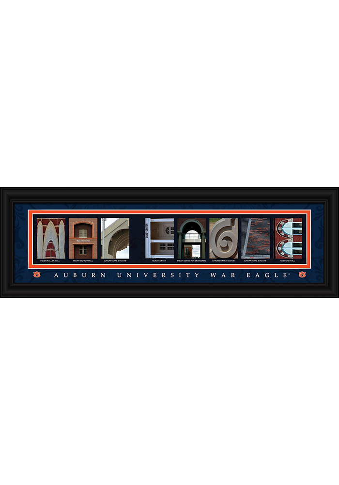 Auburn Tigers 8x24 Framed Posters - Image 1