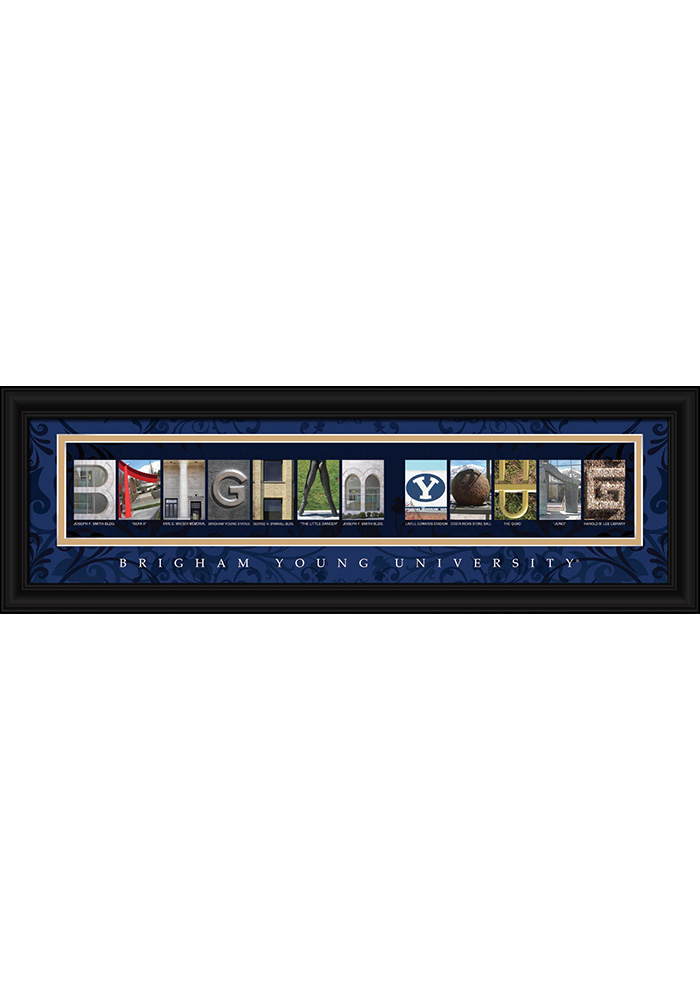 BYU Cougars 8x24 Framed Posters - Image 1