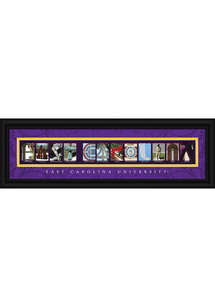 East Carolina Pirates 8x24 Framed Posters - Image 1
