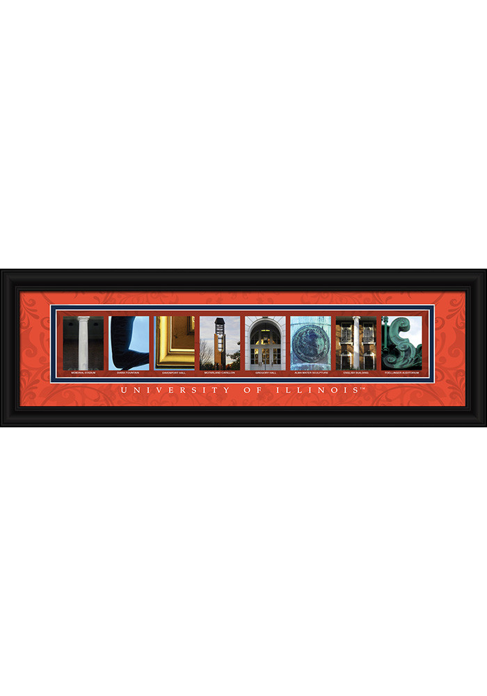 Illinois Fighting Illini 8x24 Framed Posters - Image 1
