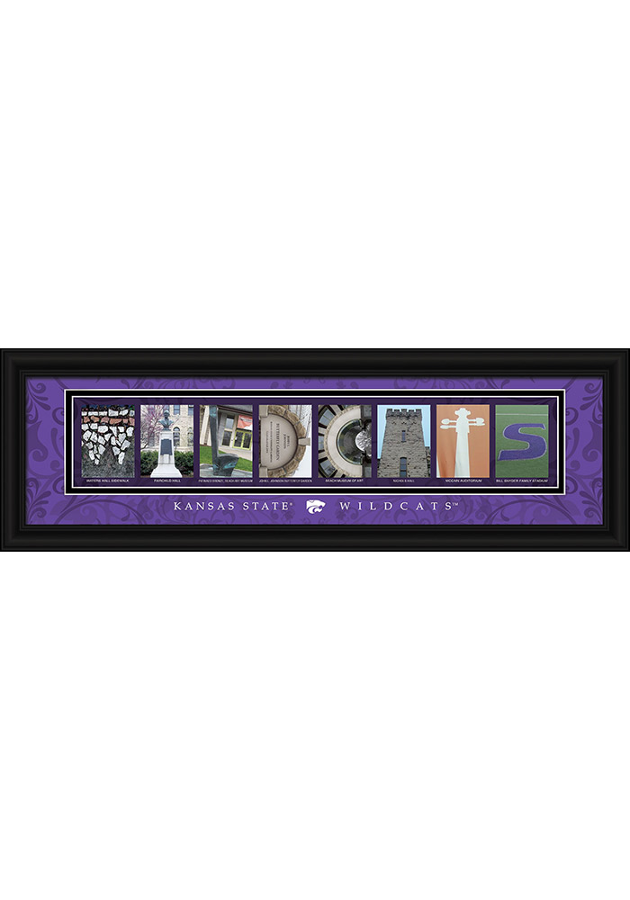 K-State Wildcats 8x24 Framed Posters - Image 1