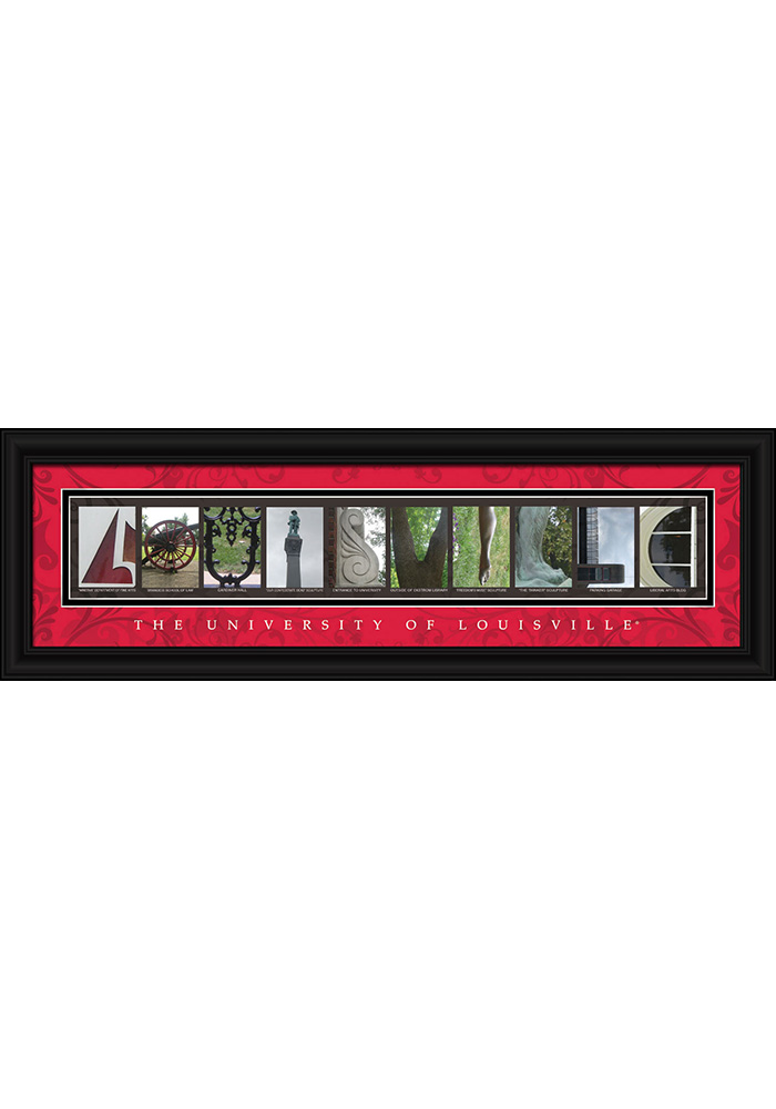 Louisville Cardinals 8x24 Framed Posters - Image 1