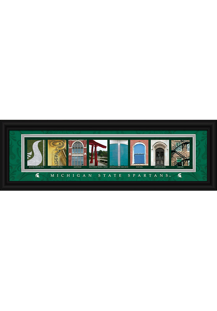 Michigan State Spartans 8x24 Framed Posters - Image 1