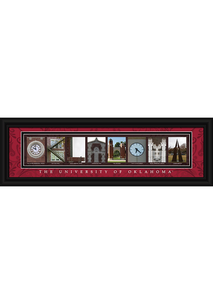 Oklahoma Sooners 8x24 Framed Posters - Image 1