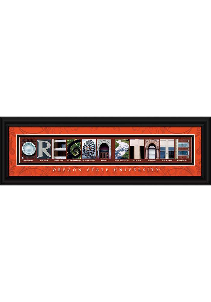 Oregon State Beavers 8x24 Framed Posters - Image 1