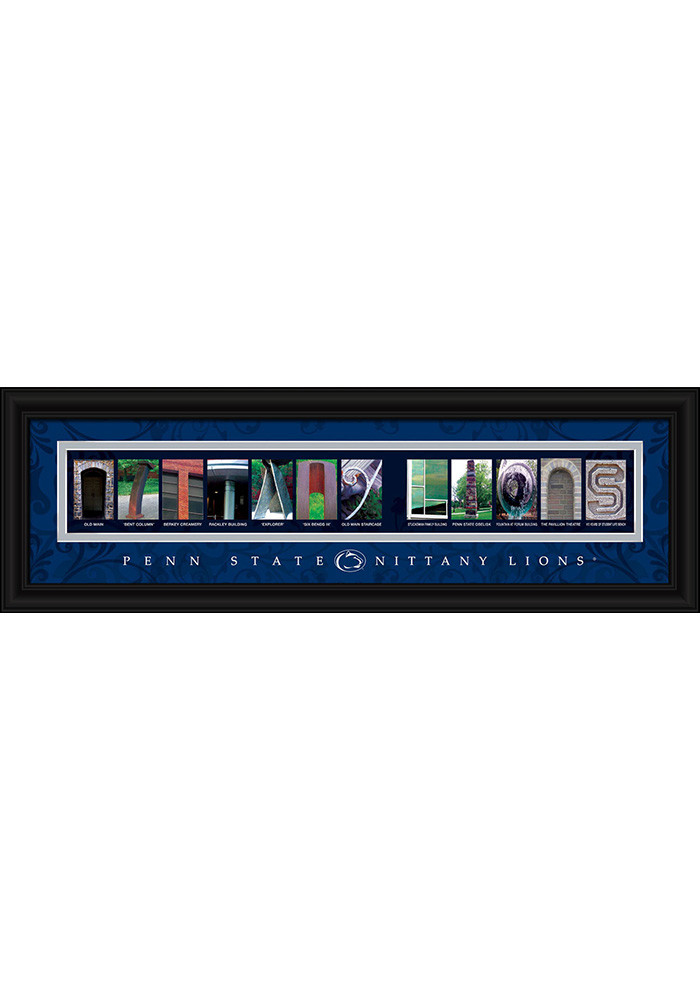 Penn State Nittany Lions 8x24 Framed Posters - Image 1