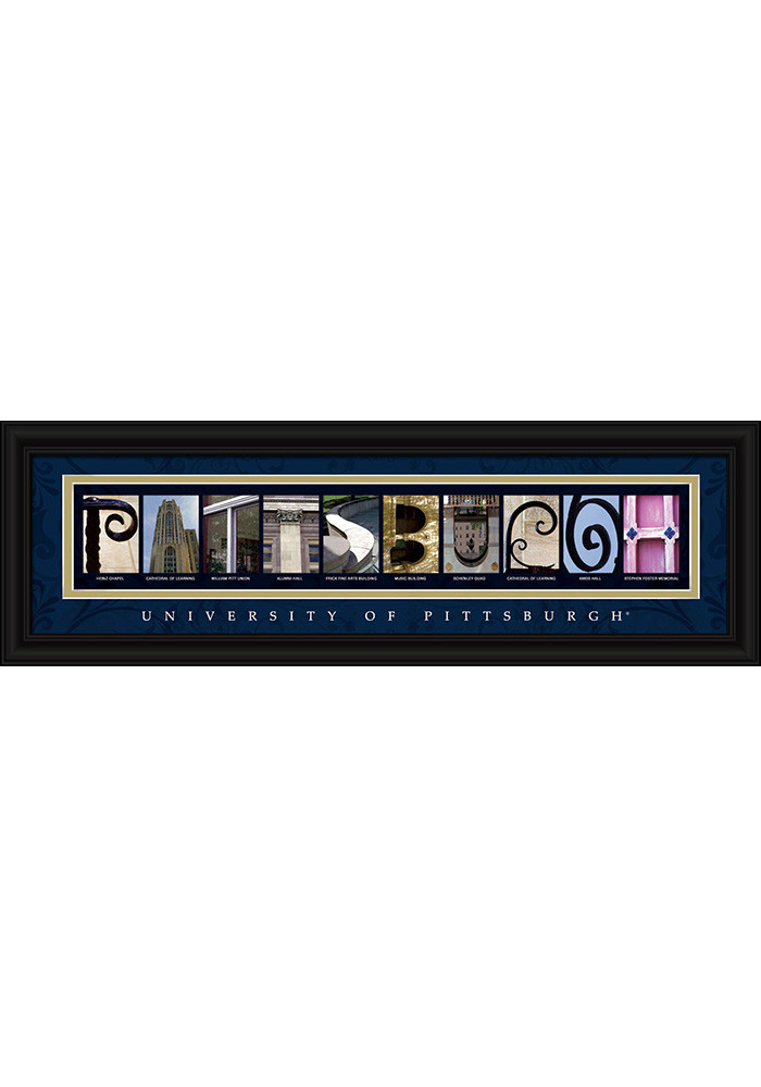 Pitt Panthers 8x24 Framed Posters - Image 1