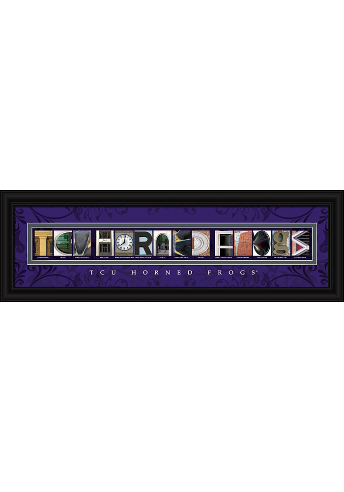 TCU Horned Frogs 8x24 Framed Posters - Image 1