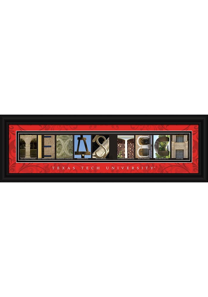 Texas Tech Red Raiders 8x24 Framed Posters - Image 1