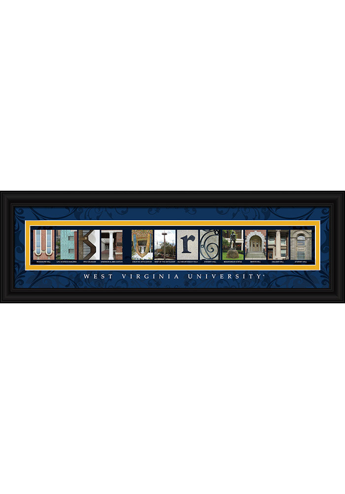 West Virginia Mountaineers 8x24 Framed Posters - Image 1