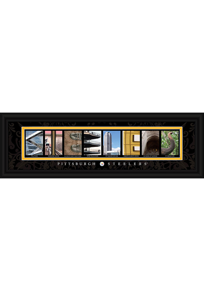 Pittsburgh Steelers 8x24 Framed Posters - Image 1
