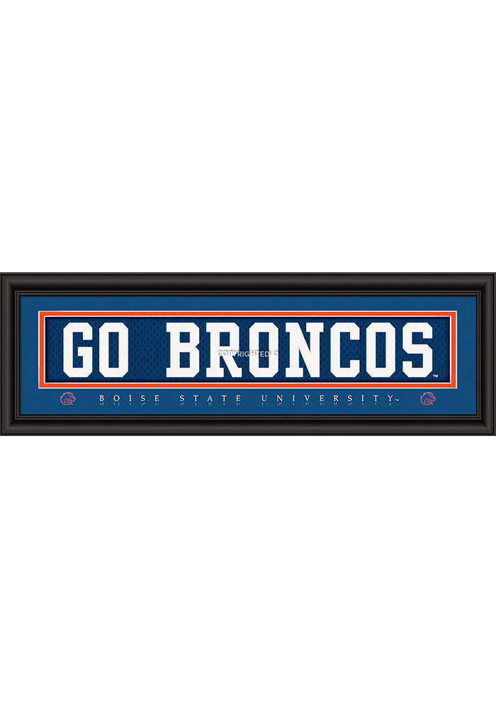 Boise State Broncos 8x24 Framed Posters - Image 1
