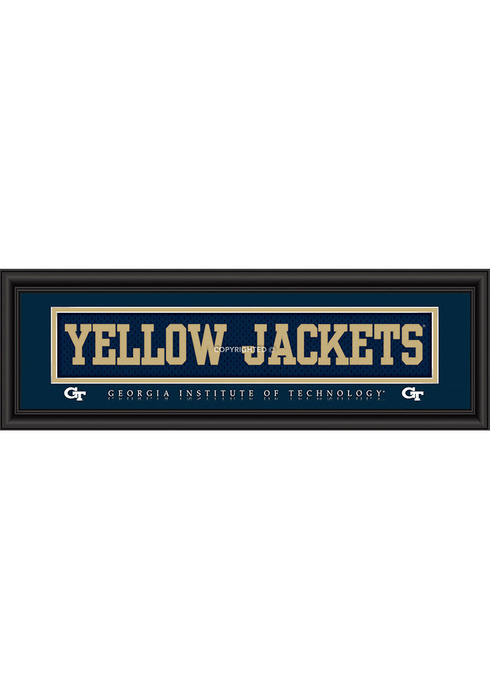 GA Tech Yellow Jackets 8x24 Framed Posters - Image 1