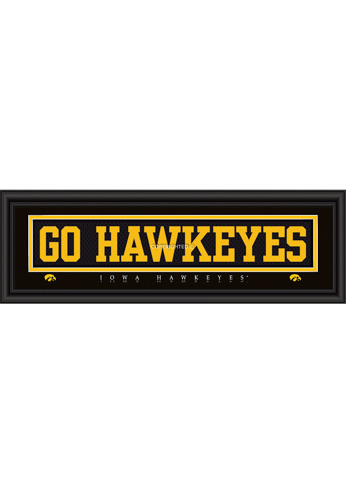 Iowa Hawkeyes 8x24 Framed Posters - Image 1