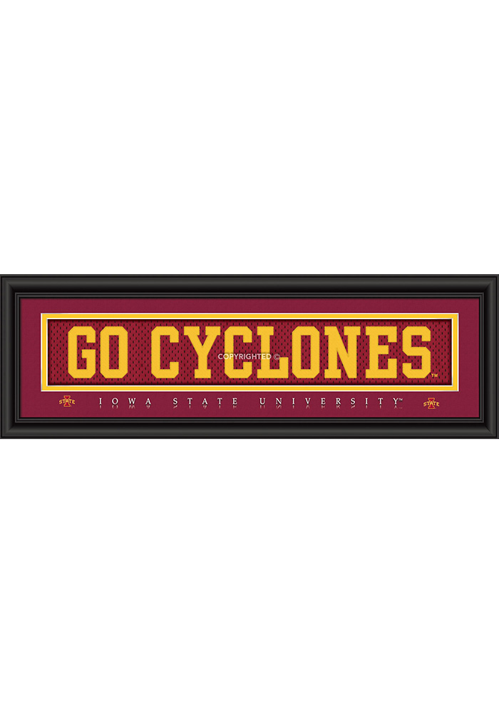 Iowa State Cyclones 8x24 Framed Posters - Image 1