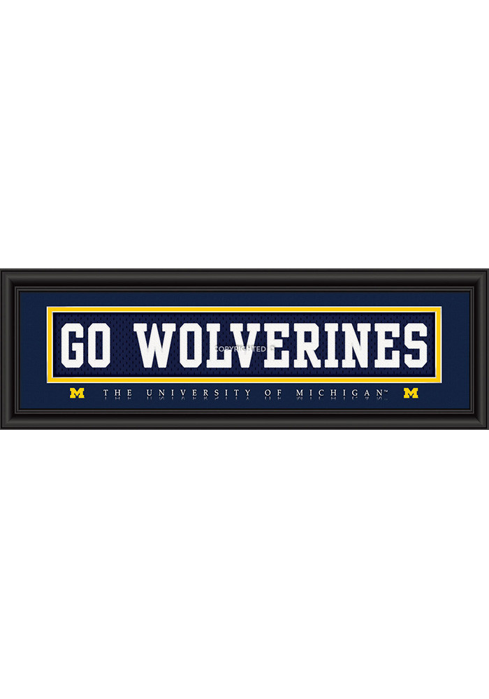 Michigan Wolverines 8x24 Framed Posters - Image 1