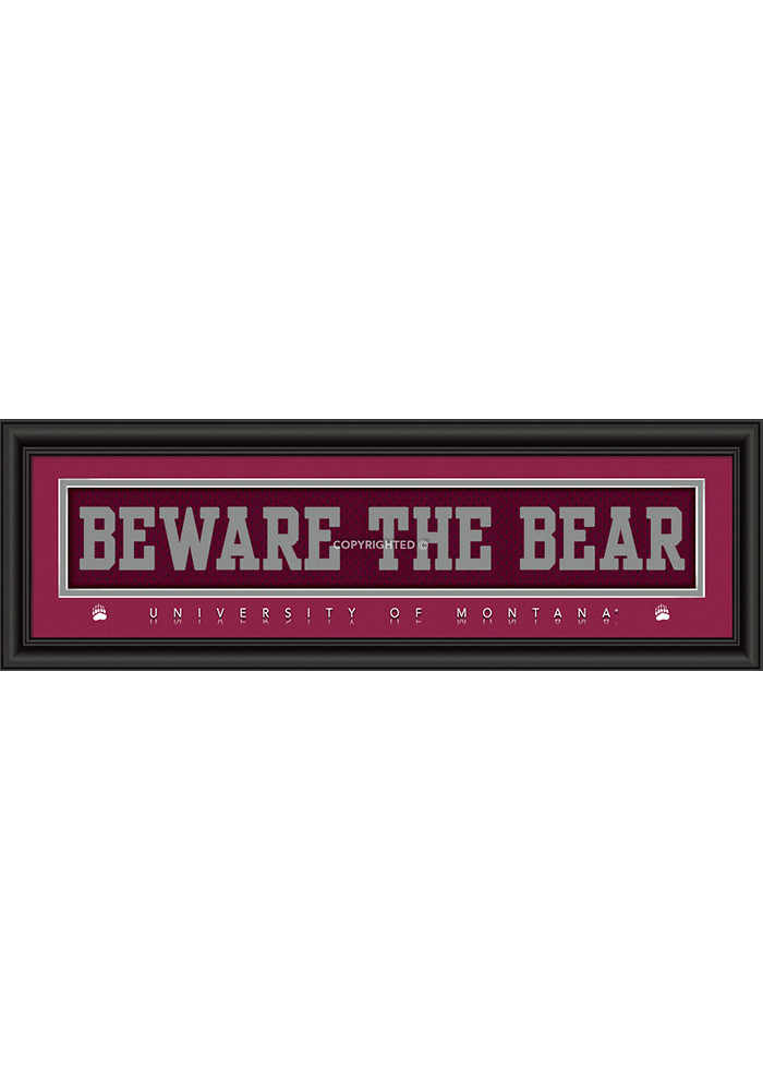 Montana Grizzlies 8x24 Framed Posters - Image 1