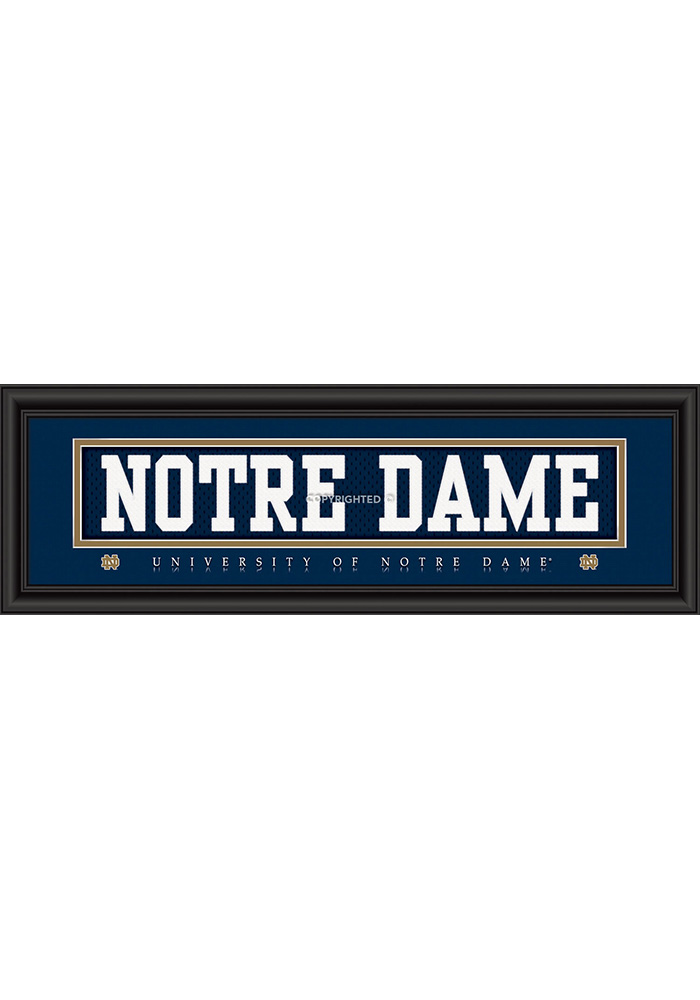 Notre Dame Fighting Irish 8x24 Framed Posters - Image 1