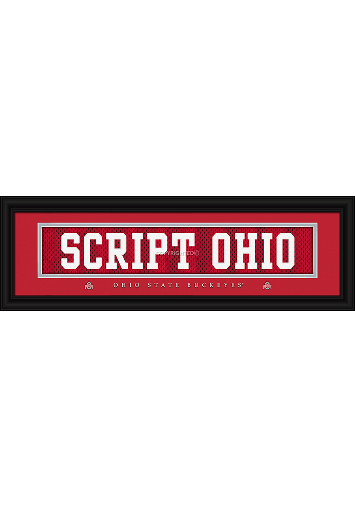 Ohio State Buckeyes 8x24 Framed Posters - Image 1