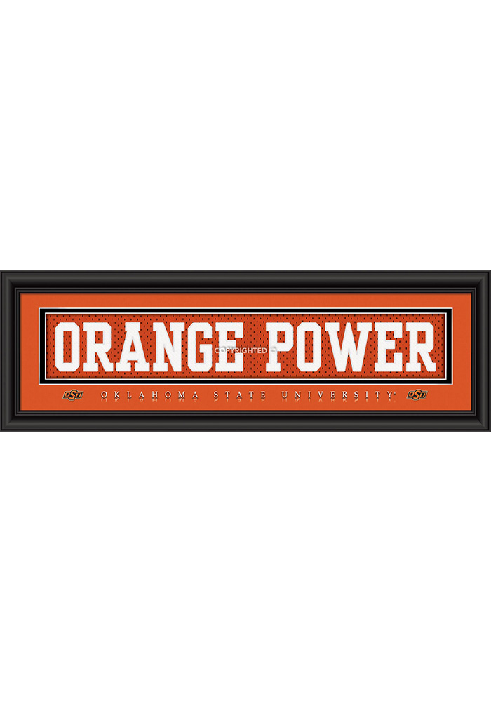 Oklahoma State Cowboys 8x24 Framed Posters - Image 1