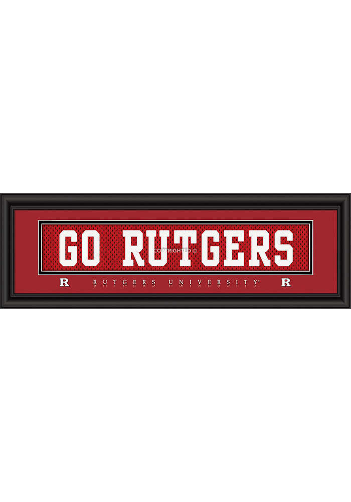 Rutgers Scarlet Knights 8x24 Framed Posters - Image 1