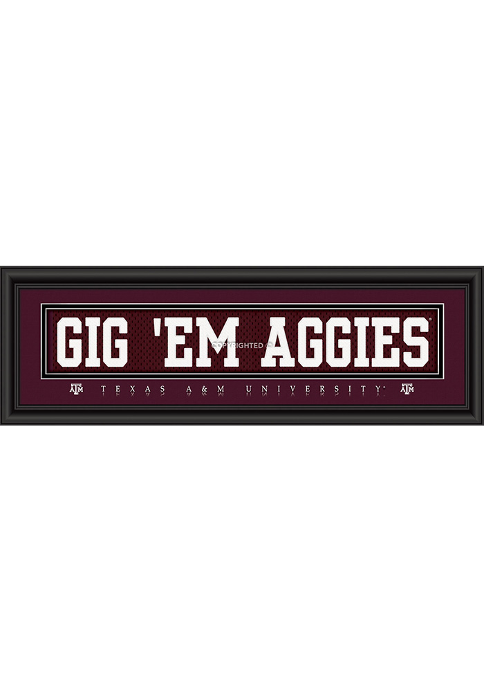 Texas A&M Aggies 8x24 Framed Posters - Image 1