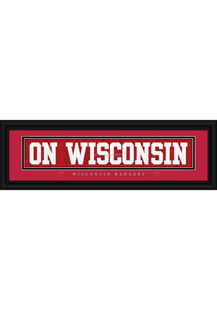 Wisconsin Badgers 8x24 Framed Posters - Image 1