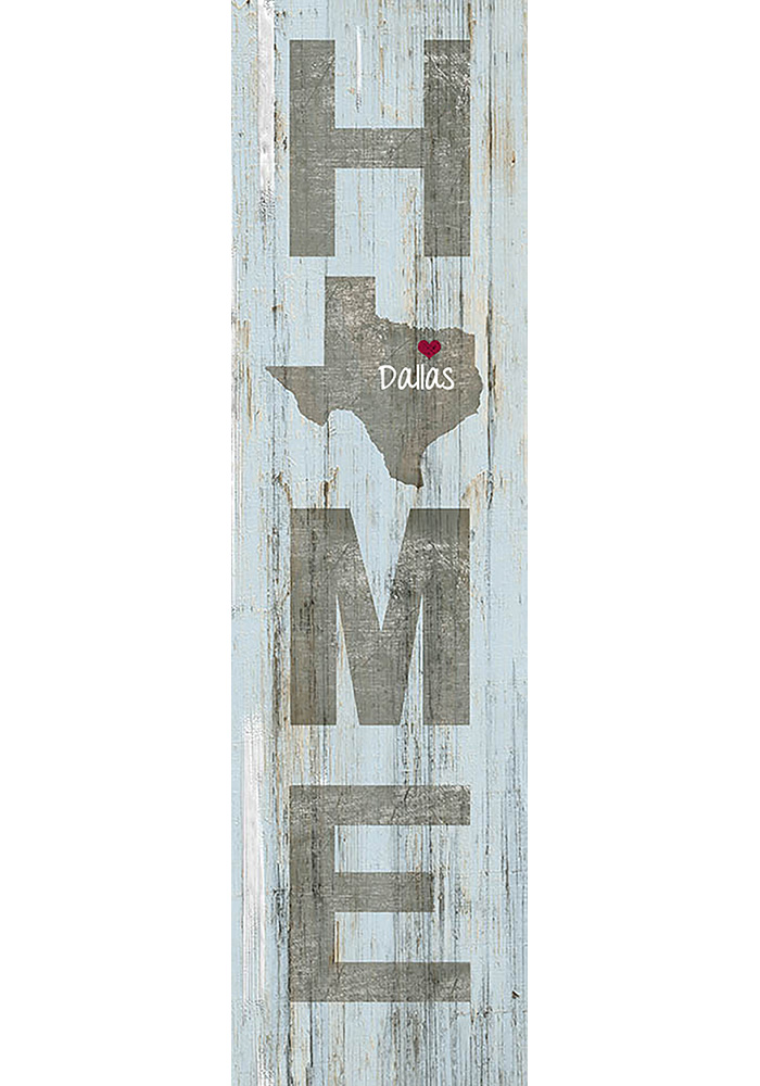 Dallas Ft Worth 5.5x20 White Wash Plaque - Image 1