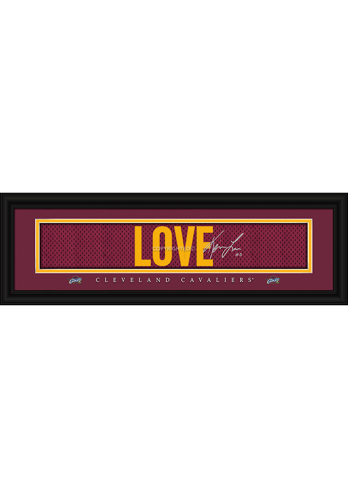 Kevin Love Cleveland Cavaliers 8x24 Signature Framed Posters - Image 1