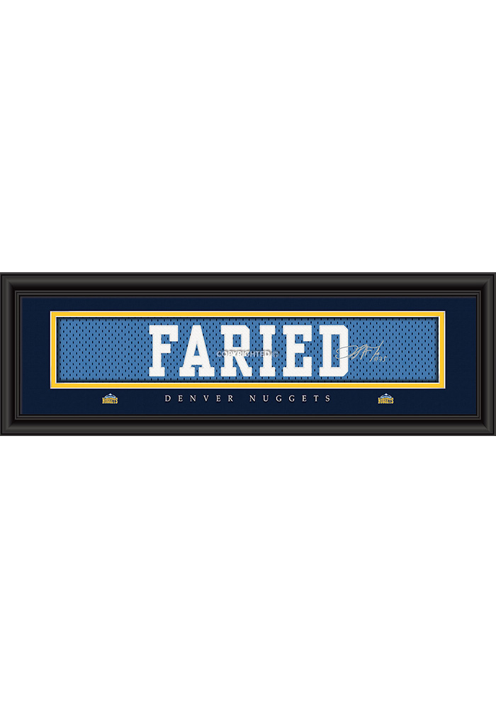 Kenneth Faried Denver Nuggets 8x24 Signature Framed Posters - Image 1