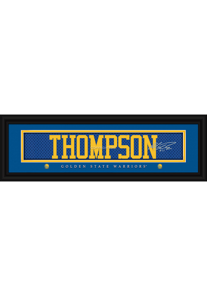 Klay Thompson Golden State Warriors 8x24 Signature Framed Posters - Image 1