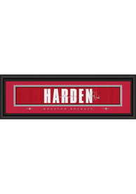 James Harden Houston Rockets 8x24 Signature Framed Posters