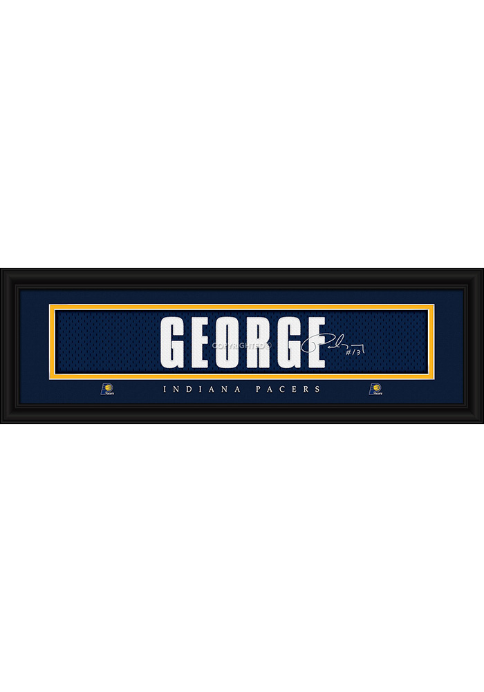 Paul George Indiana Pacers 8x24 Signature Framed Posters - Image 1