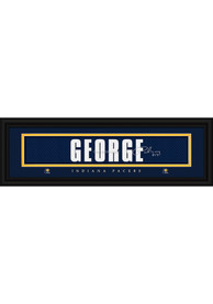 Paul George Indiana Pacers 8x24 Signature Framed Posters