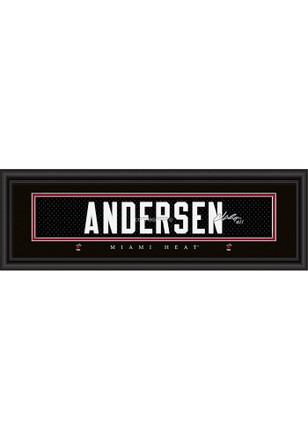 Chris Anderson Miami Heat 8x24 Signature Framed Posters