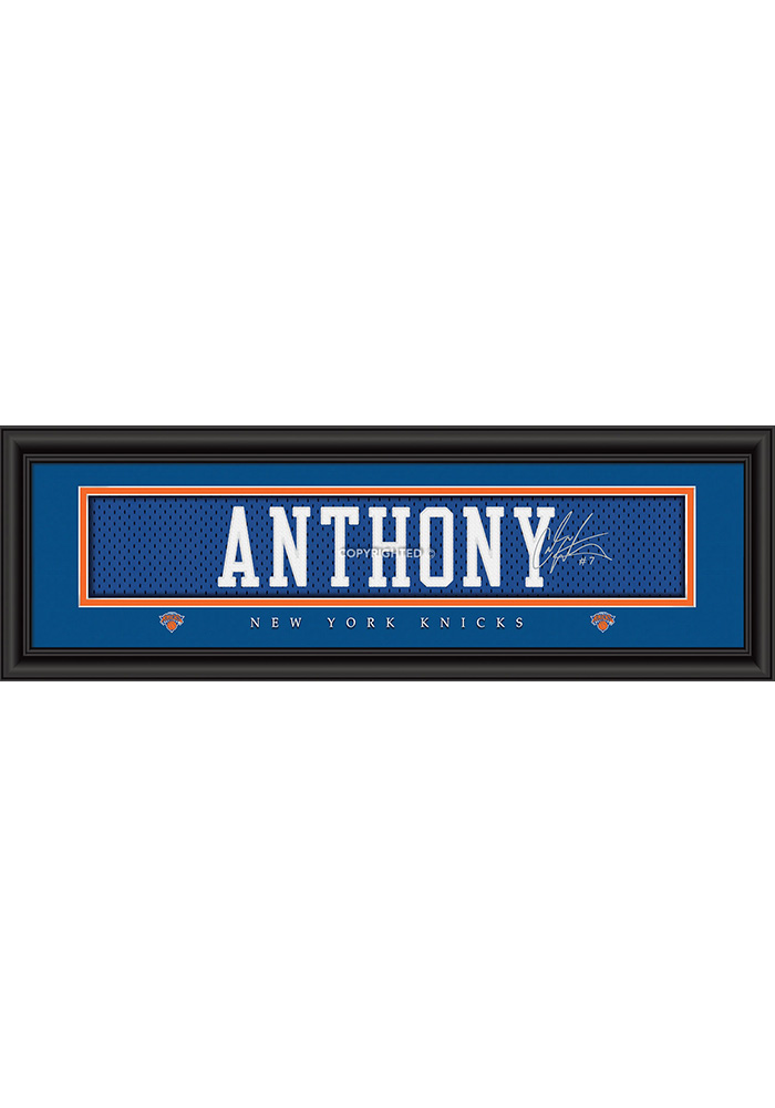 Carmelo Anthony New York Knicks 8x24 Signature Framed Posters - Image 1