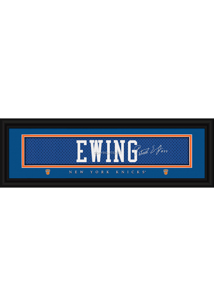 Patrick Ewing New York Knicks 8x24 Signature Framed Posters - Image 1