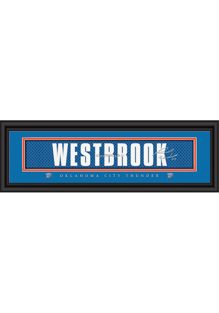 Russell Westbrook Oklahoma City Thunder 8x24 Signature Framed Posters 6541146