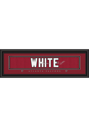 Roddy White Atlanta Falcons 8x24 Signature Framed Posters