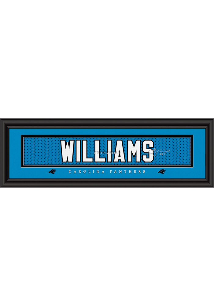 DeAngelo Williams Carolina Panthers 8x24 Signature Framed Posters - Image 1