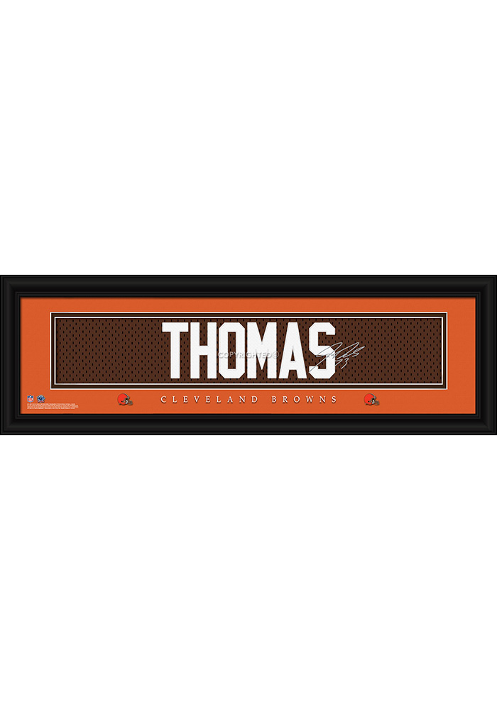 Joe Thomas Cleveland Browns 8x24 Signature Framed Posters - Image 1