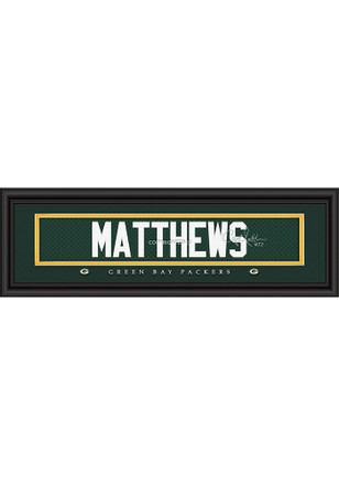 Clay Matthews Green Bay Packers 8x24 Signature Framed Posters