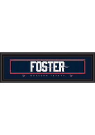 Arian Foster Houston Texans 8x24 Signature Framed Posters