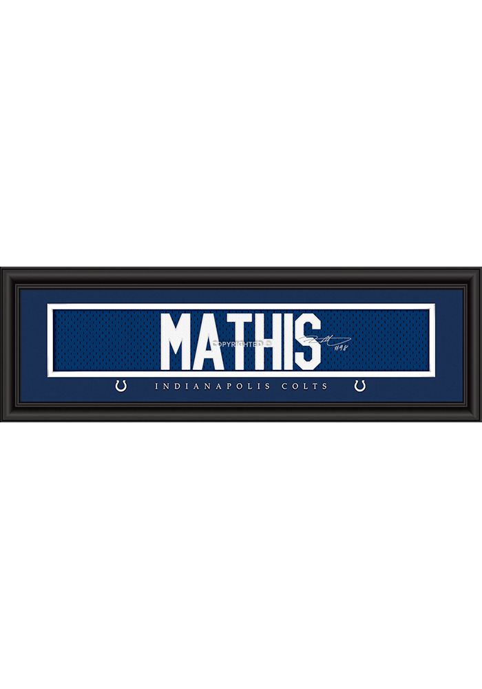 Robert Mathis Indianapolis Colts 8x24 Signature Framed Posters - Image 1